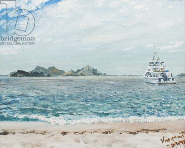 Whitsunday Islands Australia, 1998, (acrylic on canvas board)