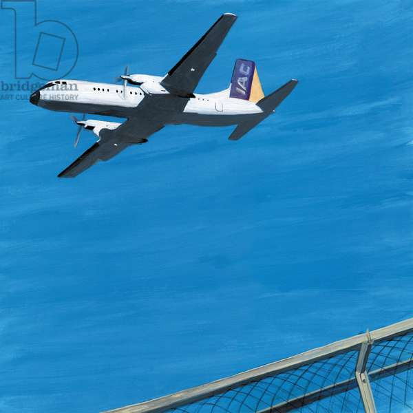 prop plane,2014,(Acrylic paint on paper)