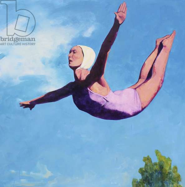 Diving Girl, 2013, (oil on canvas)