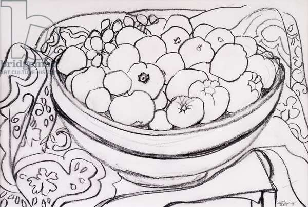 Quince in a Large Bowl,2000,(graphite)
