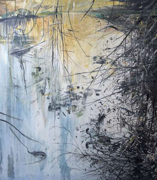Overhanging Branches, 2012, (oil on board)