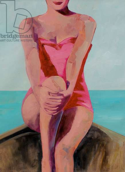 Woman in a Boat, 2015, (oil on canvas)