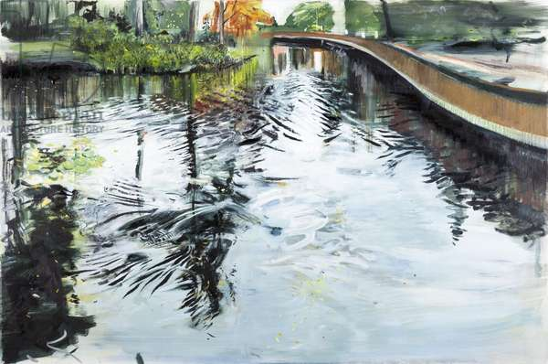 Walkway and Ripples, Kew Gardens, 2013, (oil on canvas)