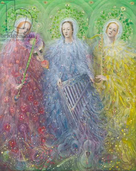 Mass for three voices, 2016 (oil on Belgian linen)