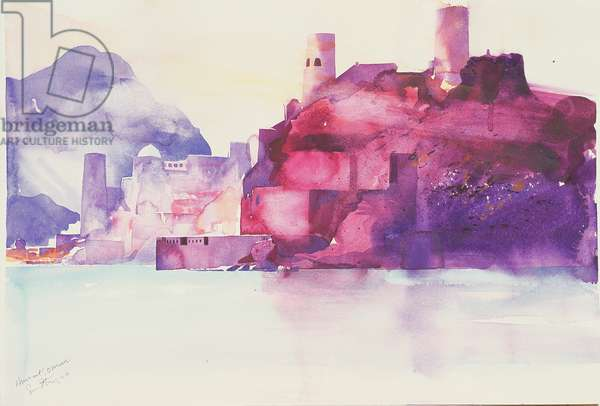Muscat Oman, 2004 (watercolour)