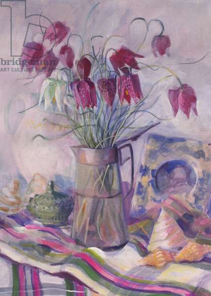 Fritillaries, 1996, (gouache on paper)