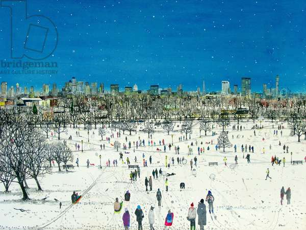 Primrose Hill Snow, 2013 (w/c & acrylic on paper)