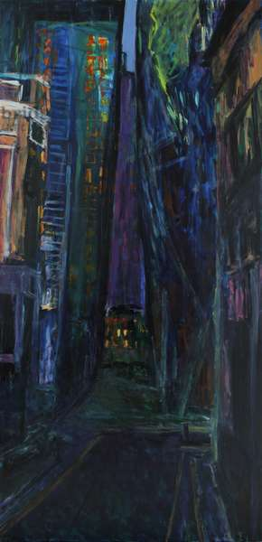 The City, 2014, (oil on canvas)