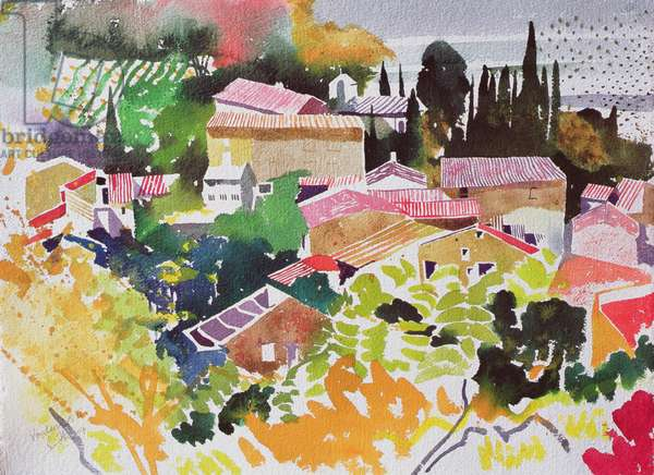 Vendanges II, France (watercolour)