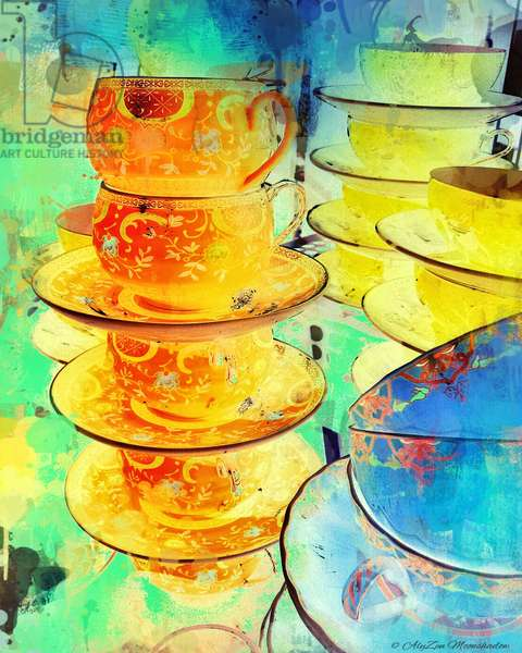Orange and Gold Stack, 2014, (digital mixed media phoneography)