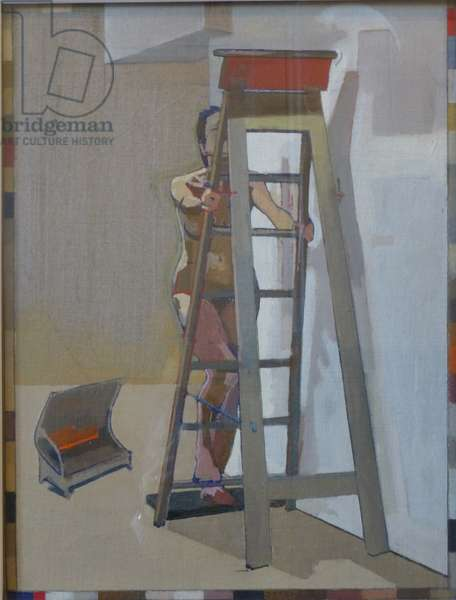 Ladder, 2011 (oil on panel)