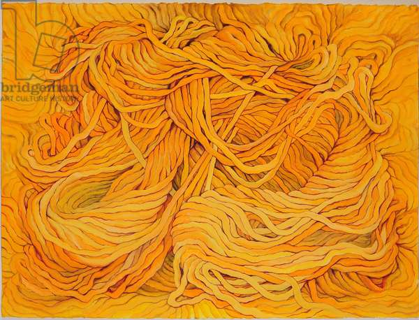 Wool Yellow, 2013, (gouache on paper)