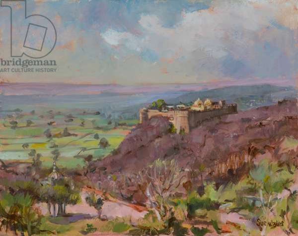 Ramathra Fort, 2019, (oil on board)