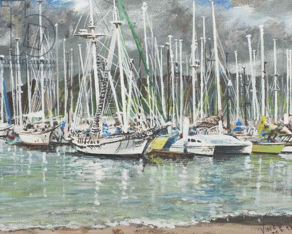 Coffs Harbour, Australia, 1998,  (acrylic on canvas board)