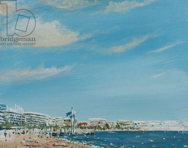 Cannes Sea Front, 2014,  (acrylic on canvas board)