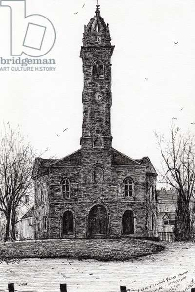 Lorne & Lowland parish church, 2007, (ink on paper)