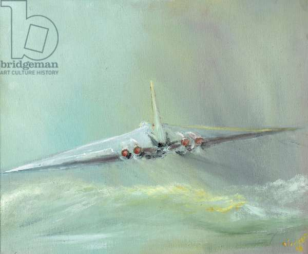 Vulcan B1 sortie, 2016, (oil on canvas board)
