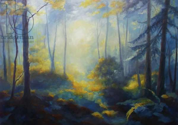 Limberlost 2013 (oil on canvas) Forest USA