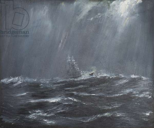 Gneisenau in a Storm North Sea 1940, 2006,  (oil on canvas)