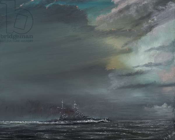 HMS Hood 1941, 2014, (oil on canvas)
