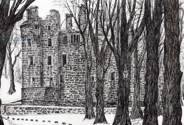 Huntly Castle Scotland, 2007, (ink on paper)