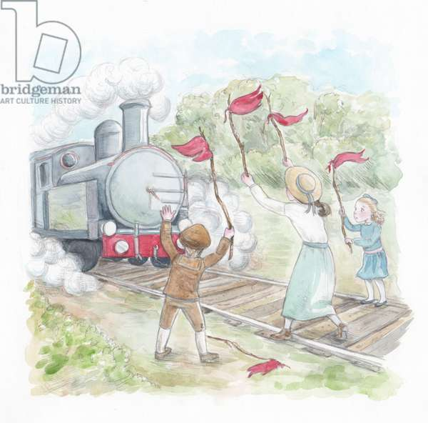 The Railway Children, 2016, (watercolour and pencil)