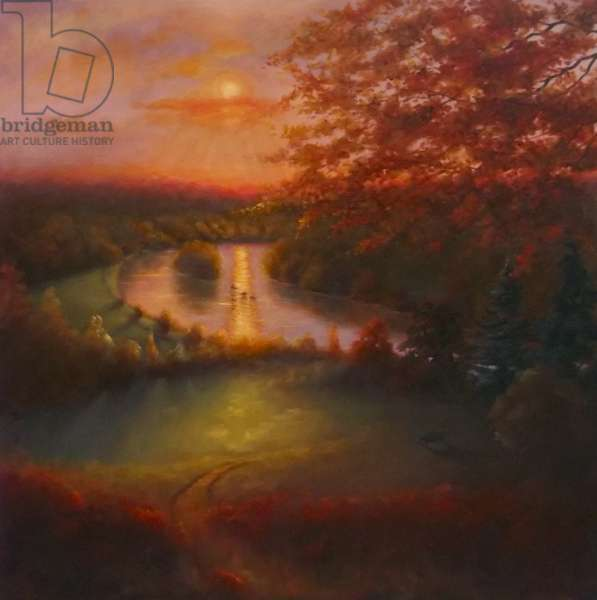 October Glow 2011 (oil on canvas) Landscape