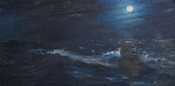 The Tell tale Moon, 1995, (oil on canvas board)