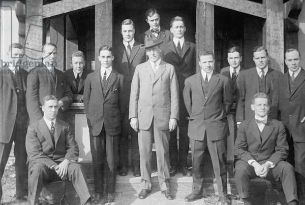 Woodrow Wiilson with Princeton University students. 1913