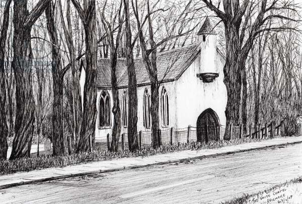 The White Chapel Aviemore, 2007, (ink on paper)
