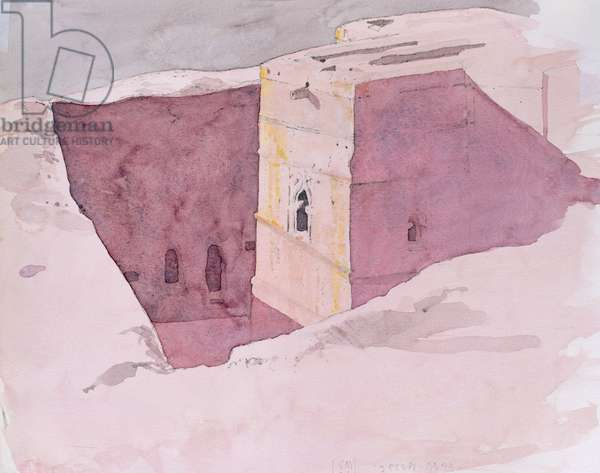 Giorgis Sunset, Lalibela, Ethiopia, 1996 (w/c on paper)