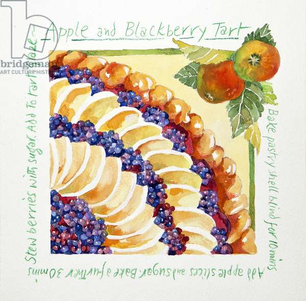 Apple blackberry tart, 2014, (watercolour)