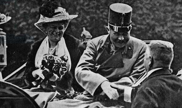 Arch Duke Franz Ferdinand and his wife, 1914