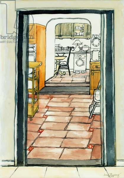 Cynthia's Kitchen,2009,(watercolour)
