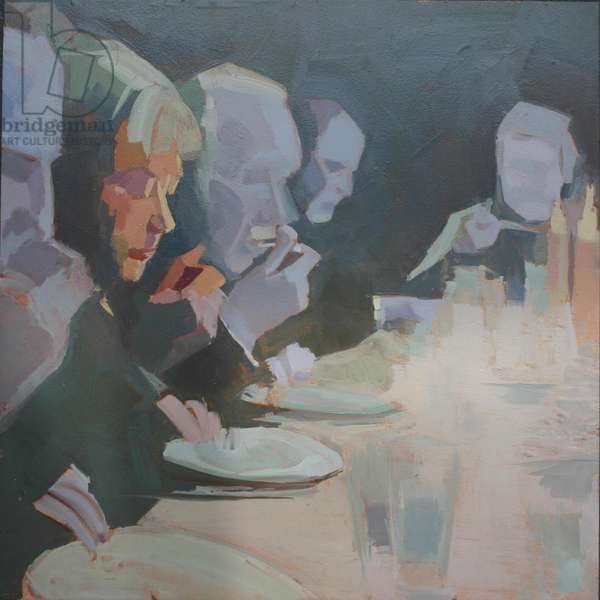 'Dinner 3', 2009, (oil on primed aluminium)