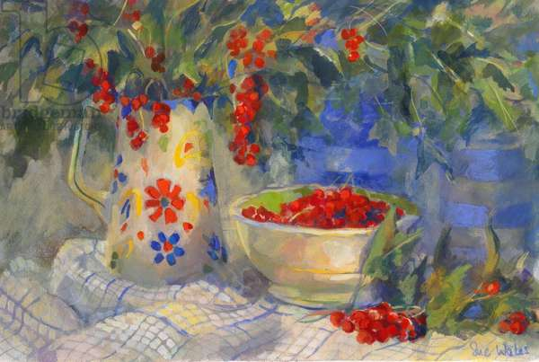 Red currants, 1998, (gouache on paper)