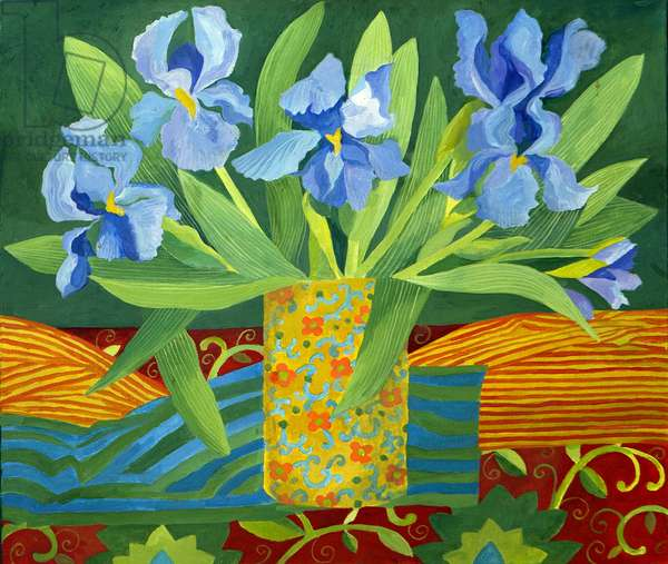 Iris, 2014, (acrylic on canvas)