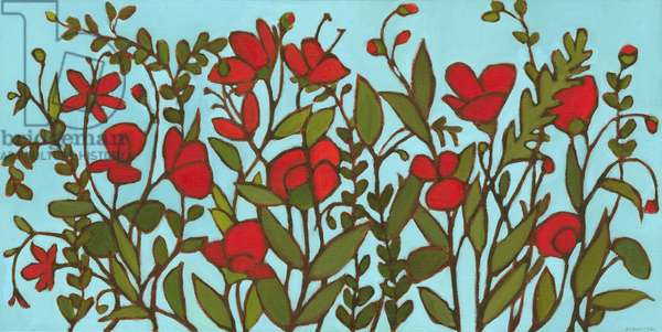 Red Blossoms (oil on canvas)