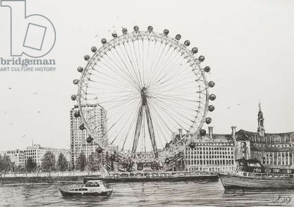 The London Eye, 2006, (ink on Paper)