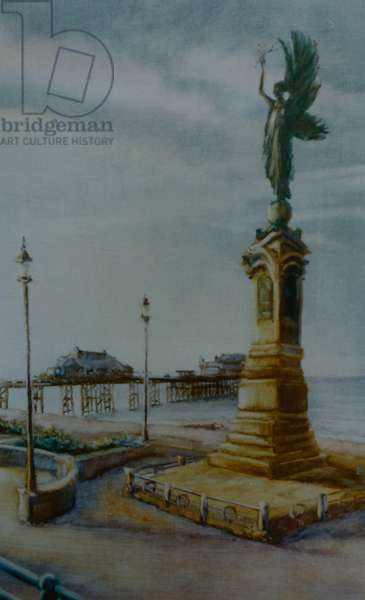 Angel of Hove, 2000 (oil on paper) Brighton statue