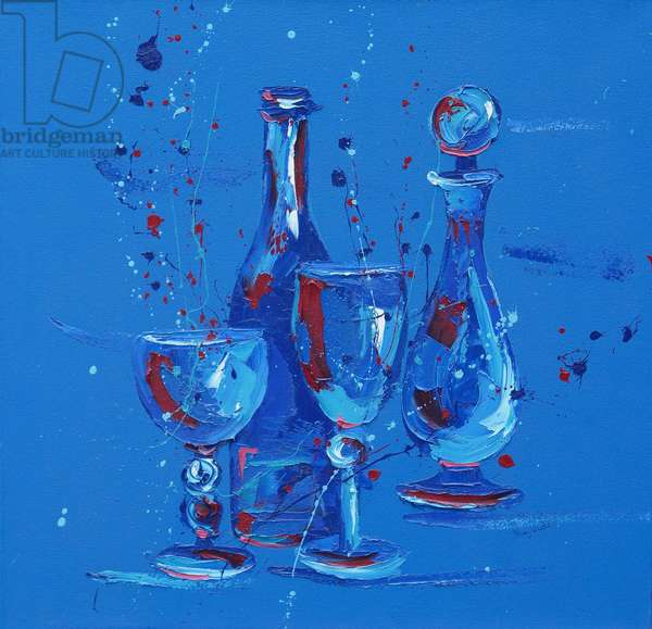 Still Life in Blue, 2005 (oil on canvas)