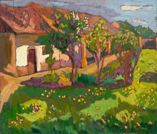 Garden in May, 2012 (oil on board)