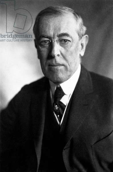 USA: Woodrow Wilson (1856-1924), 28th President of the United States (1913-1921), 1919