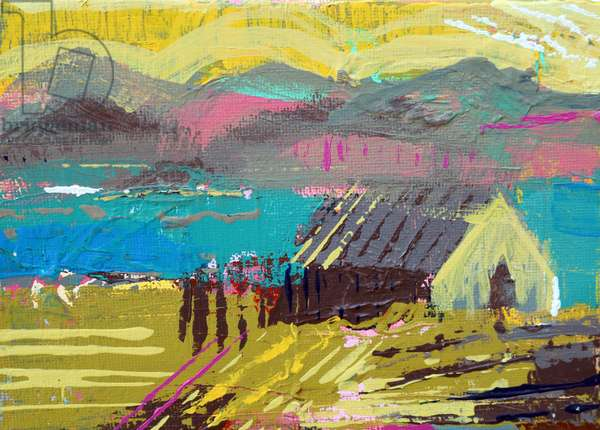 Retreat Iona I (acrylic on canvas)