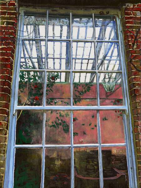 The orangery window, 2012, (oil on canvas)