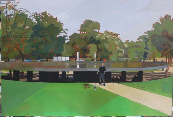 Audrey in Kensington Gardens, 2013 (oil on canvas)