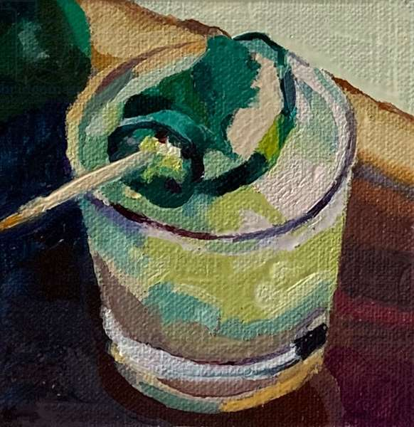 cocktail 2, 2019 (oil on board)