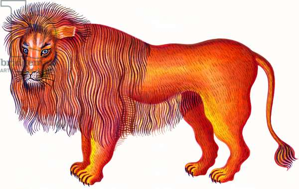 Leo the Lion, 1996, (ink and gouache)