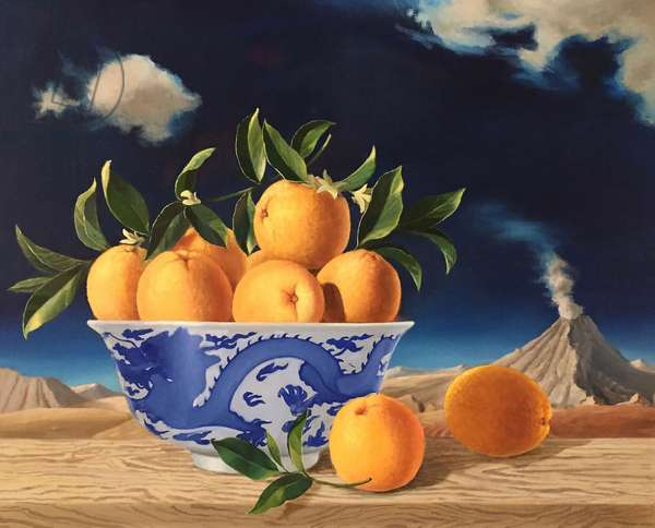 Chinese Bowl of Oranges, 2014,(oil on canvas)