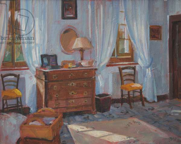 French bedroom, 2005, (oil on board)